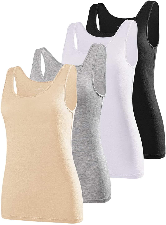 Air Curvey Tank Tops Women Yoga Undershirts Athletic Cami Sleeveless Camisole 2-4 Pack S-XXL