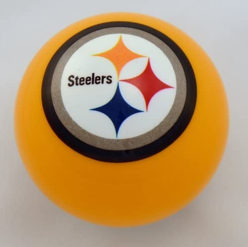 Officially Licensed NFL Pittsburgh Steelers Yellow Billiard Pool Cue Ball