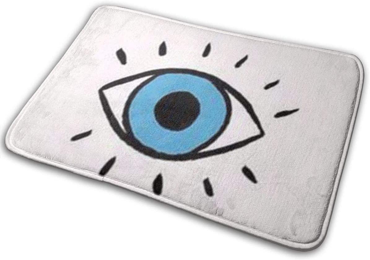 Evil Eye Memory Foam Bath Mat Non Slip Ultra Absorbent Bathroom Rug Carpet, 15.7