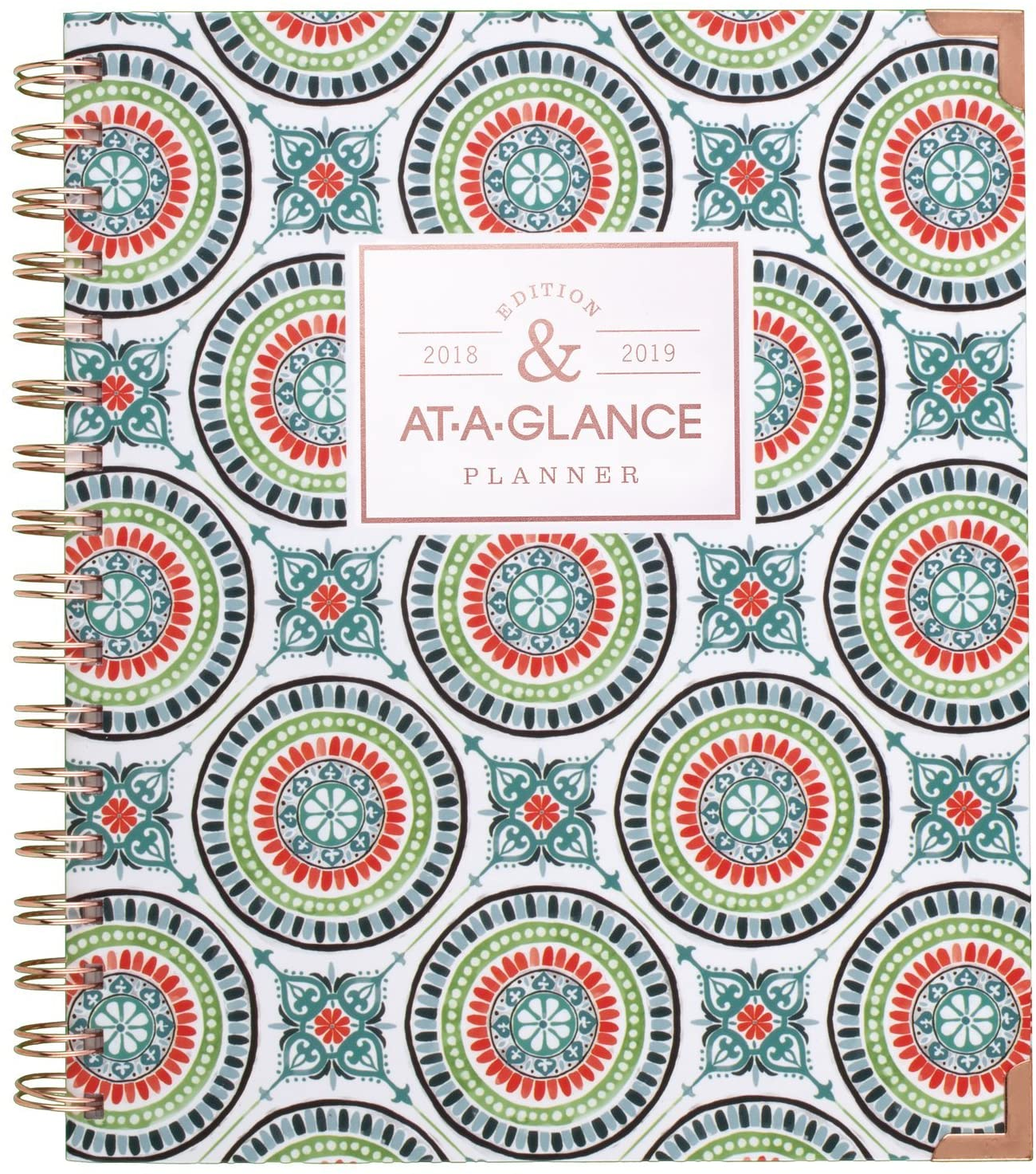AT-A-GLANCE 2018-2019 Academic Year Weekly & Monthly Planner, Medium, 6-7/8 x 8-3/4, Hardcover, Badge Tile (6124T-805A)