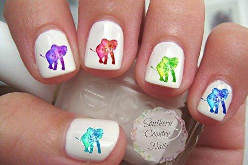 Galaxy Elephants Nail Art Decals