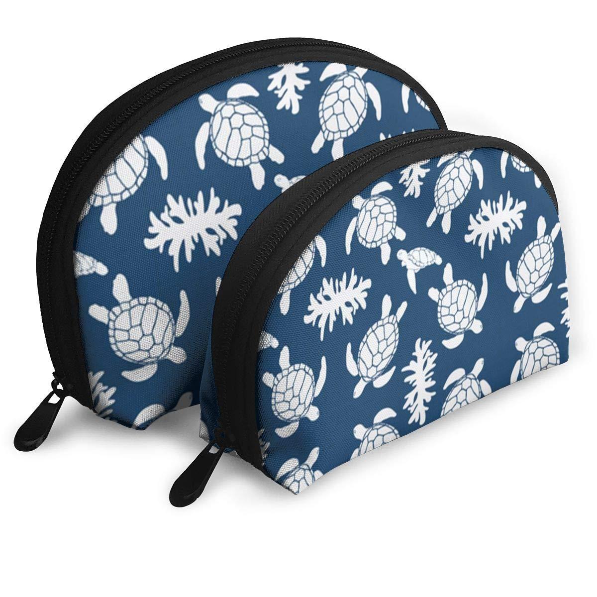 Half Moon Cosmetic Beauty Bag,Cute Turtle Handy Cosmetic Pouch Clutch Makeup Bag For Women Girls