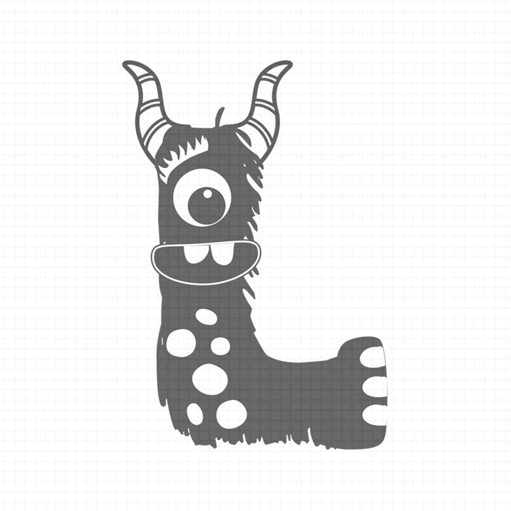 Alpha Monsters - L, pre-Inked Rubber Stamp (#100212-30RD)