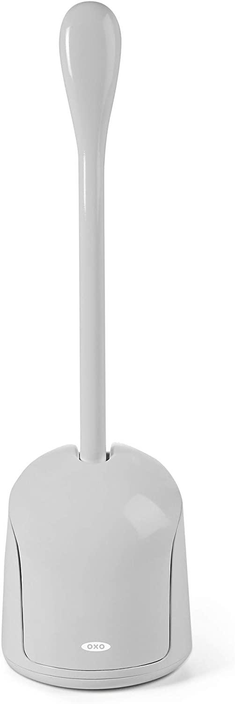OXO 12225900 Good Grips Hideaway Compact Toilet Brush-Gray