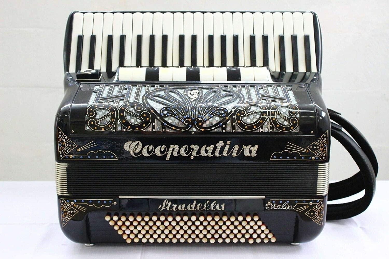 Accordion Cooperativa Stradella 120 bass LMMMH 5/5 Cassotto Fisarmonica Top