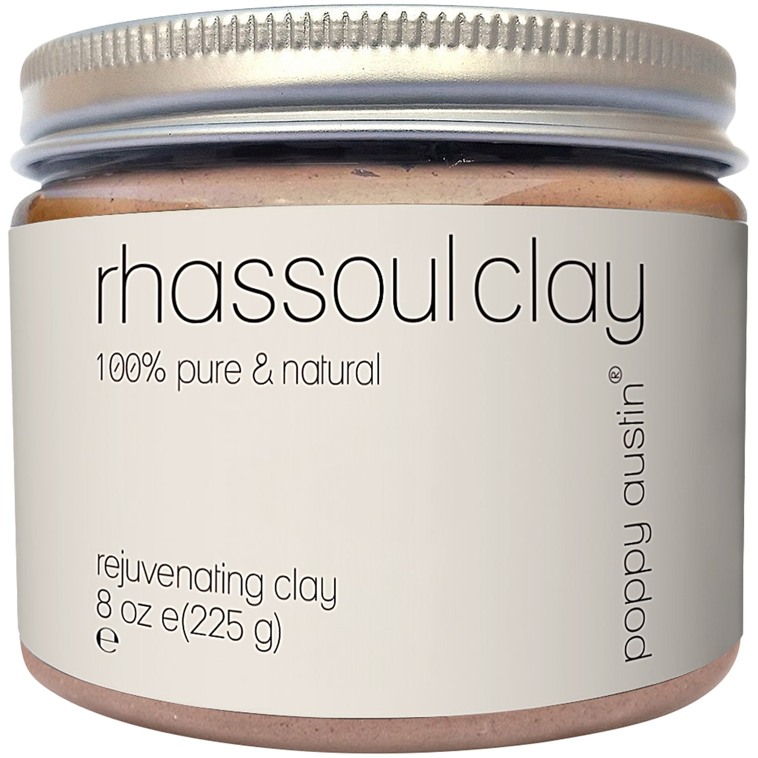 Rhassoul Clay Hair & Face Cleanser - Vegan Certified, Cruelty-Free, Organic & Eco Friendly Ghassoul Powder - All Natural Face Wash, Blackhead Remover & Pore Minimiser, 225 g