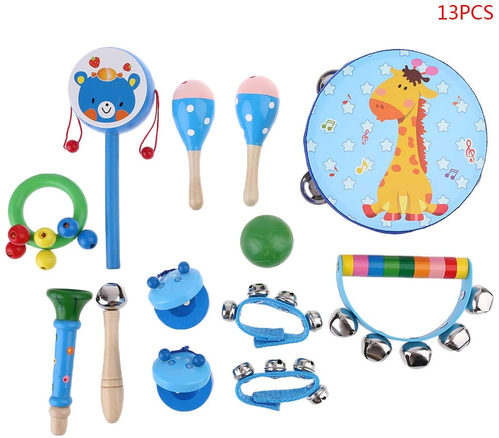 chefensty 13 Pcs Child Musical Instrument Kits Kids Toy Percussion Set Early Education Toy