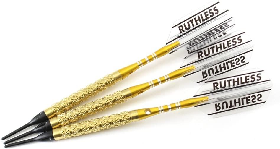 'P4' Golden Soft Tip Darts Style 2-18 Grams, 90% Tungsten, Soft Tip Darts