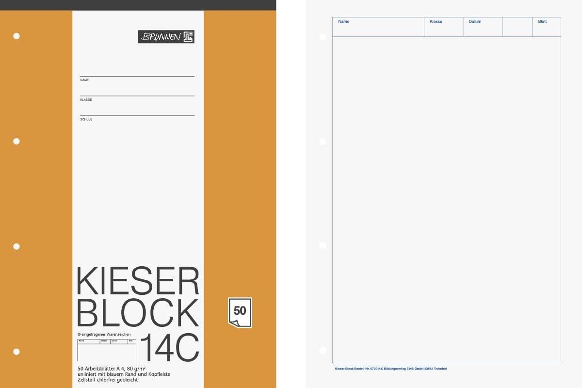 Baier Schneider &Briefpapierblock Kieserblock A4 White (Pack of 50)