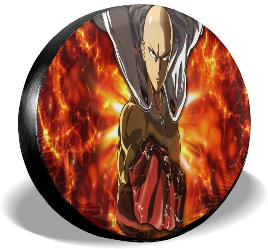 Wehoiweh One Punch Man Tire Covers Tough Tire Wheel Protector Universal Fits Tire (14
