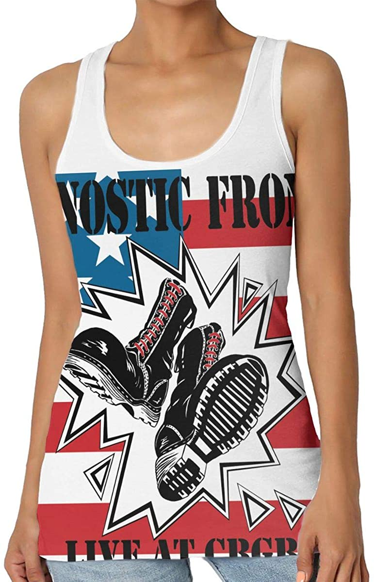 Agnostic Front Workout Tops for Women Exercise Gym Yoga Shirts Athletic Tank Tops Gym Clothes