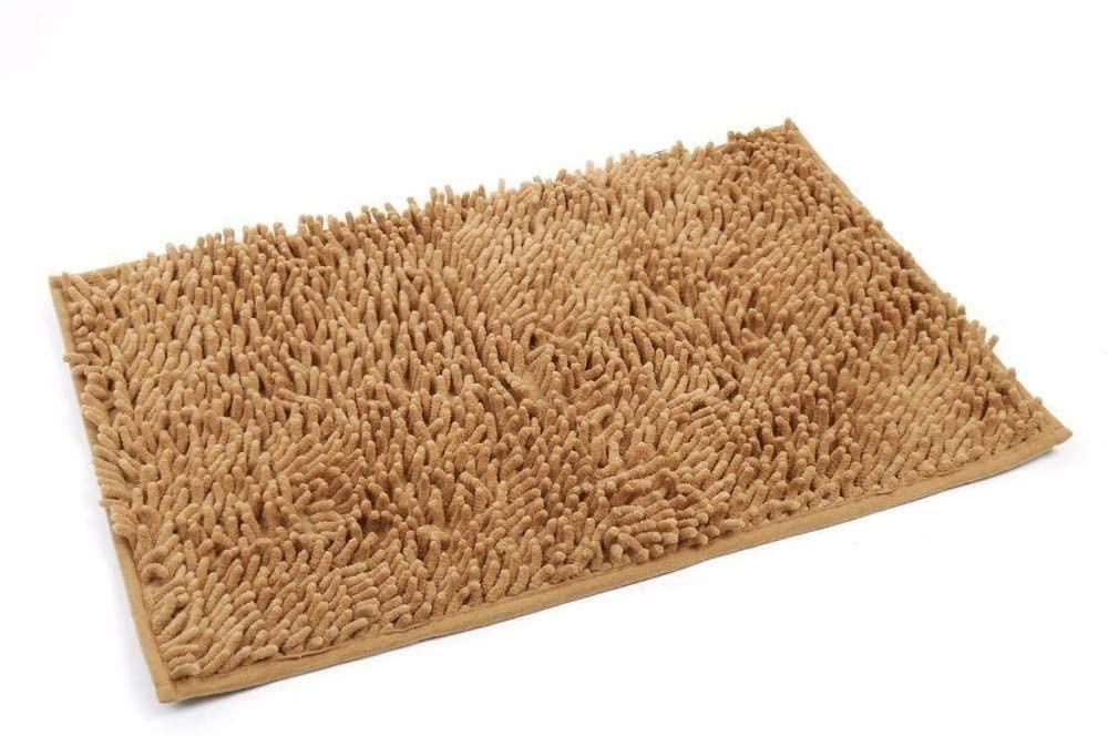 Bath Mat Bathroom Rugs, Extra Soft Chenille Bathroom Wash Bathroom Anti Slip Bath Rugs, Machine Washable