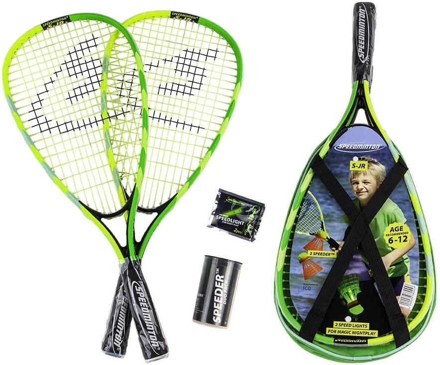 Speedminton Junior Set - Original Speed Badminton/crossminton Childrens Set Includes 2 Kids Rackets, 2 Fun Speeder and Bag. (SM01-SJR-10)