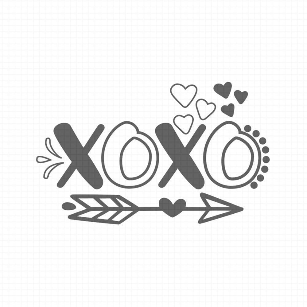 XOXO, pre-Inked Rubber Stamp (#100857-58RD)