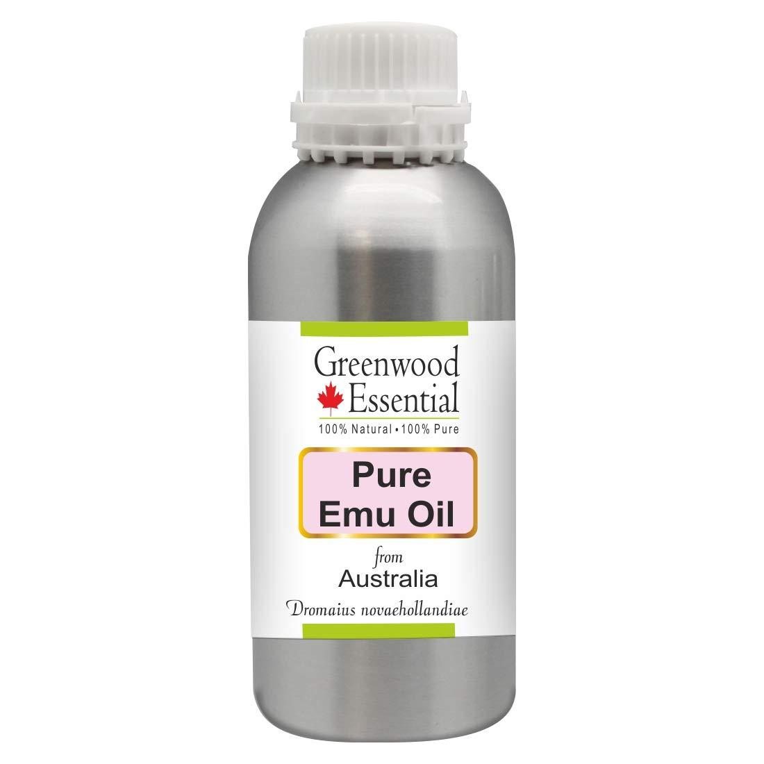 Greenwood Essential Pure Emu Oil (Dromaius novaehollandiae) Premium Therapeutic Grade for Hair, Skin 630ml (21 oz)