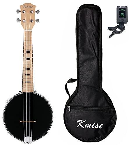 Kmise 4 String Banjo Ukulele Banjo lele Uke Concert 23 Inch Size Sapele with Bag Tuner (MI2233)