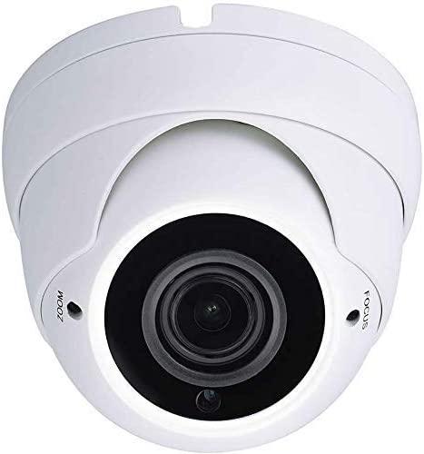 101AV 5MP 4in1 (TVI, AHD, CVI, CVBS) Indoor Outdoor Dome Camera DWDR OSD menu for CCTV DVR Home Office Surveillance Security (White) (5MP 2.8-12mm Lens, White)