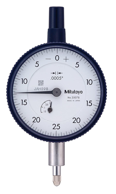 Mitutoyo 2507S Dial Indicator, #4-48 UNF Thread, 0.375