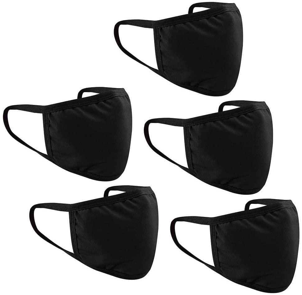 5 Pack Fashion Washable Reusable Face Shields