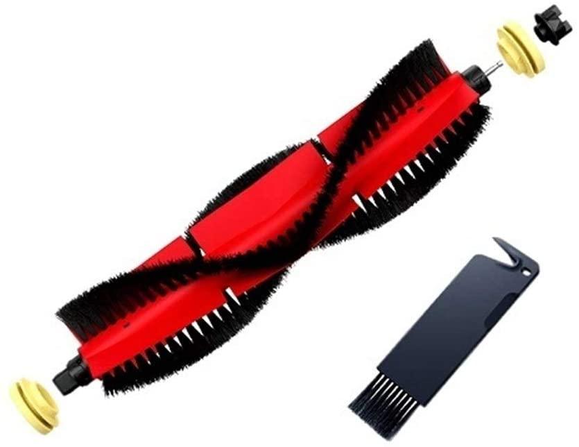 Lianhe Roborock Vacuum Cleaner Original Silicon Detachable Main Brush 2 Ends Fit for Roborock S6 S50 S5 Max,S6Max V,S4,E4 Spare Part (Color : Main Brush)