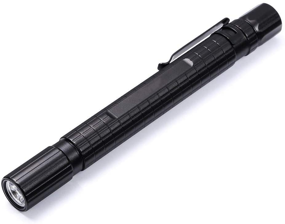 Flashlight, LED Pen Light Flashlight, Zoomable, Small EDC 220 Lumens Penlight For Inspection, Repair, Camping. IPX5 Water-Resistant, 3 Modes (High, Low, Strobe) Mini Tactical Flashlight