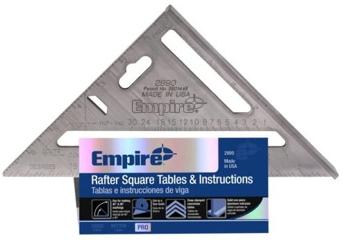 Empire Level 2999 Heavy Duty Magnum Rafter Square With Manual, 7-1/2-Inch Length
