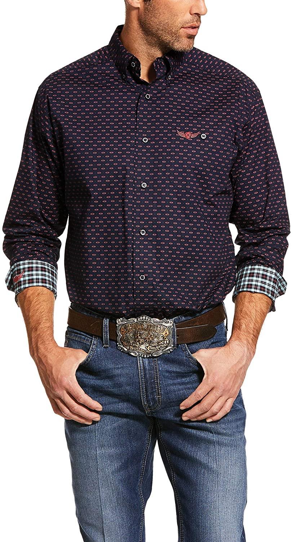 ARIAT Men's Relentless Muscular Print Stretch Classic Fit Shirt