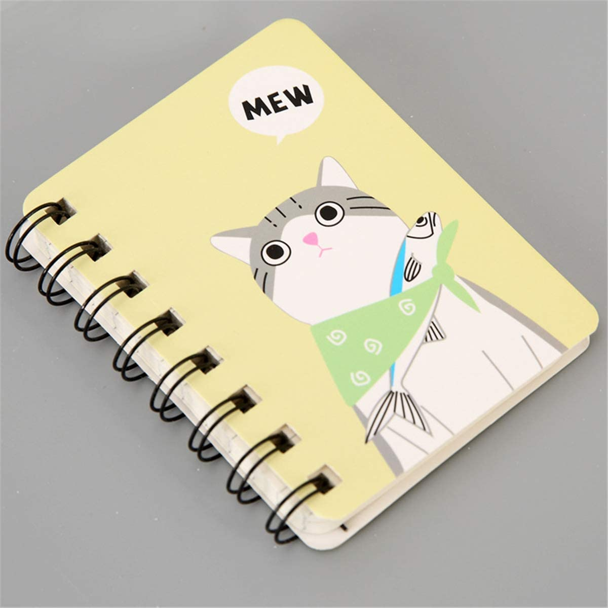 minansostey A7 Cartoon Animal and Plant Rollover Coil Learning Goods Small Notebook Pocket Mini-Portable Notebook