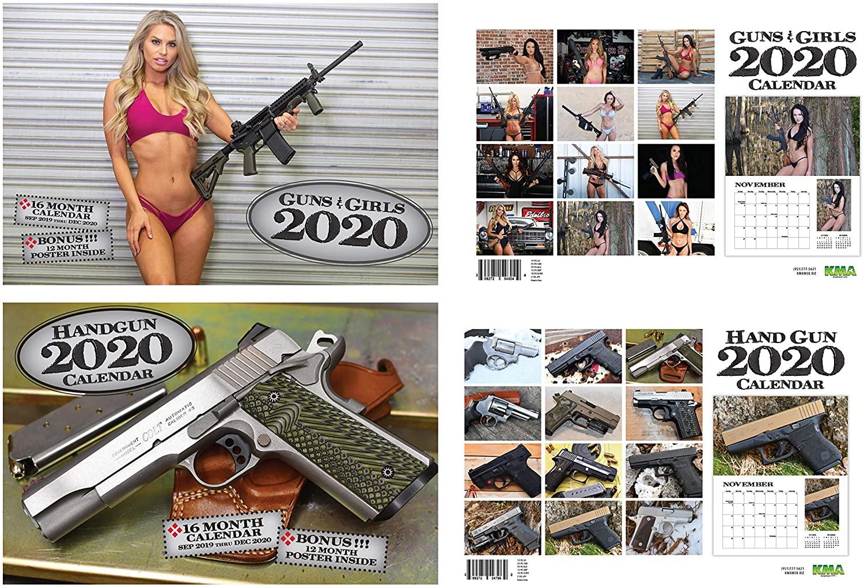 2020 Guns & Girls/Handguns Calendar Bundle