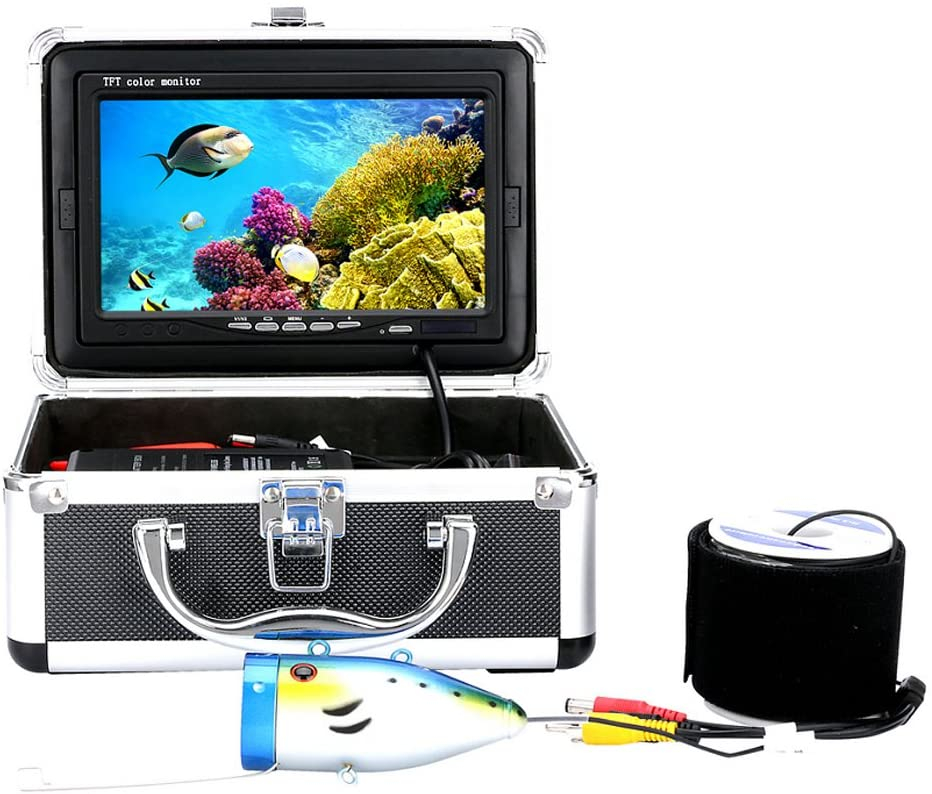 Childplaymate Underwater Fishing Video Camera 7Inch 1000tvl Kit 12PCS LED Infrared La 30M