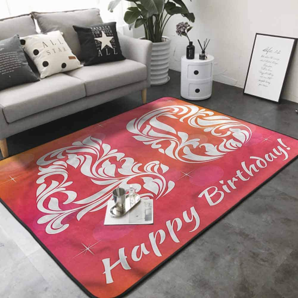 Office Chair Floor Mat Foot Pad Happy Greeting Floral 80