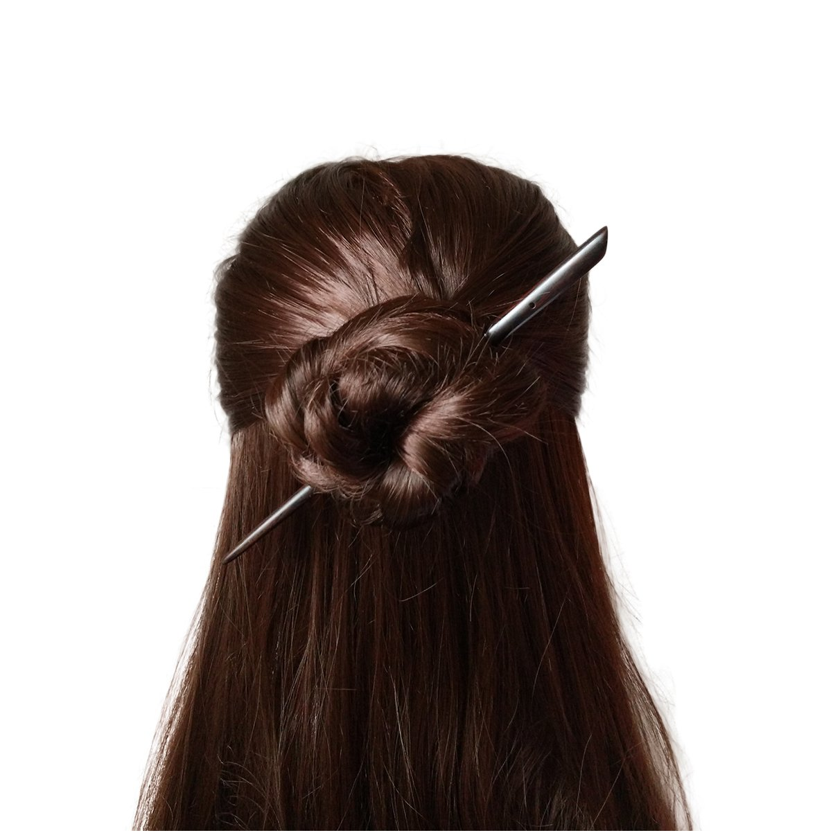 FANTAC CRAFTS Vintage Women Girl Handmade Ebony Simple Hair Stick Accessories Hairpin Chignon Bun Updo Pins Chopstick Style Elegant Beauty (Black)