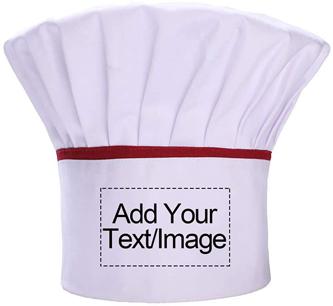 Personalized Custom Chef Hat Adjustable Elastic Baker Kitchen Cooking Chef Cap