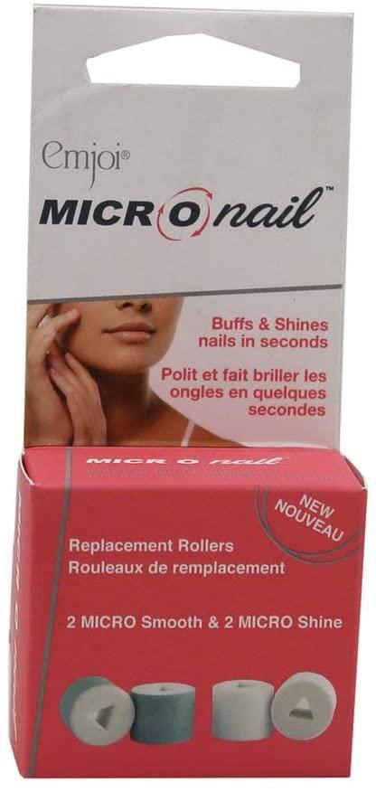 Emjoi Micro Nail Replacement Rollers 2 Micro Smooth & 2 Micro Shine