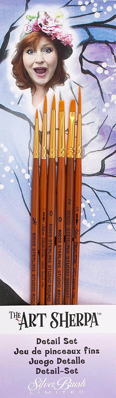 Silver Brush AS-4105 the Art Sherpa Detail Set Beginning Acrylic Paintbrush