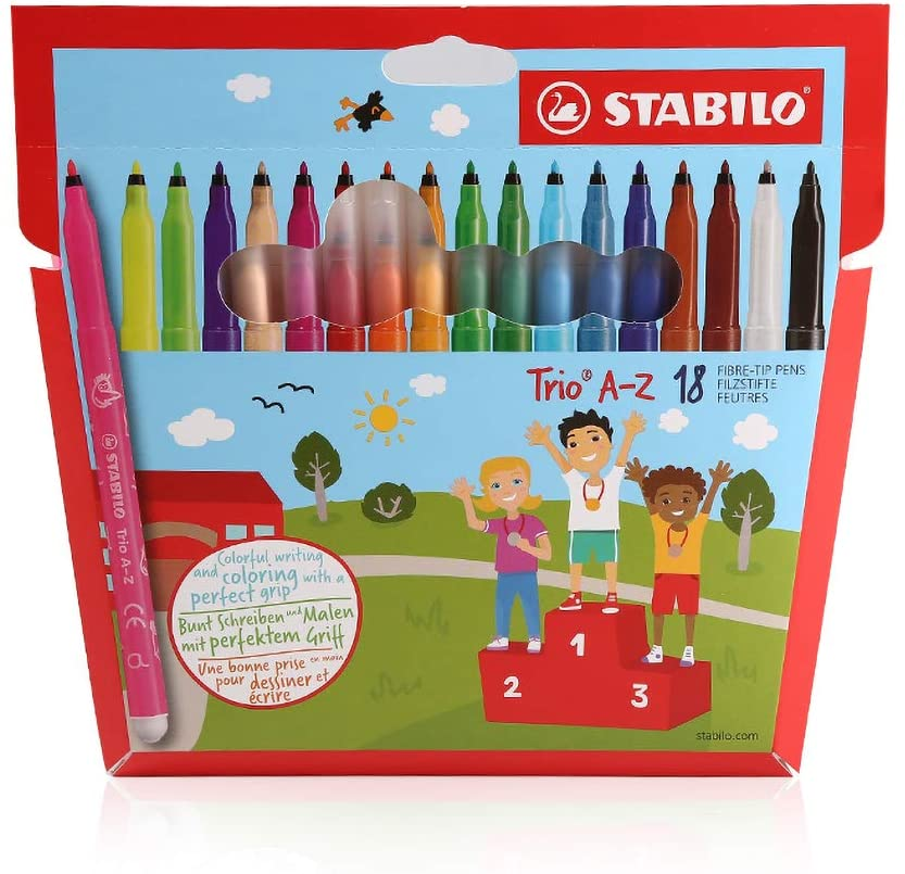 TONGQINH Watercolor Pen 18-Color Color Brush Set can be Washed and not Dried