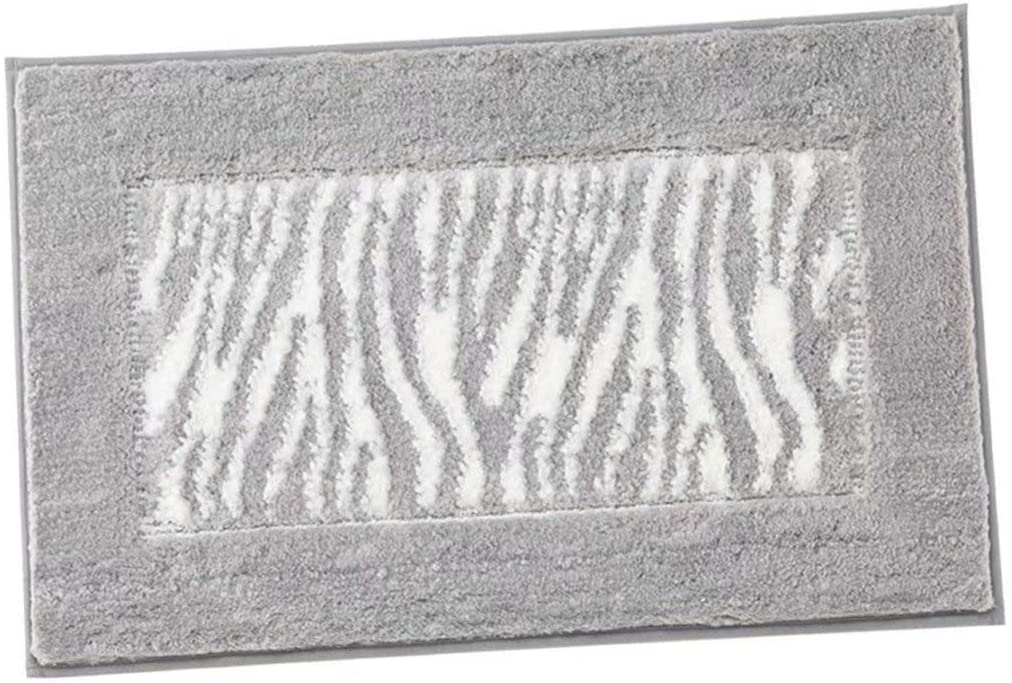 XXJF Carpet Mats Slip Bathroom Rug Non Slip Shaggy,Water Absorbent,Machine Washable Polyester for Bathroom,tub,Shower (Color : Gray, Size : 5060cm)