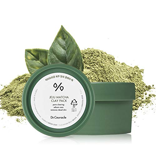 Dr.Ceuracle leegeehaam Grow Matcha Clay Pack Mask, rich green tea matcha mask revitalizes, purifies, and detoxifies with pore cleansing and tightening for youthful and hydrated skin / 3.88 oz