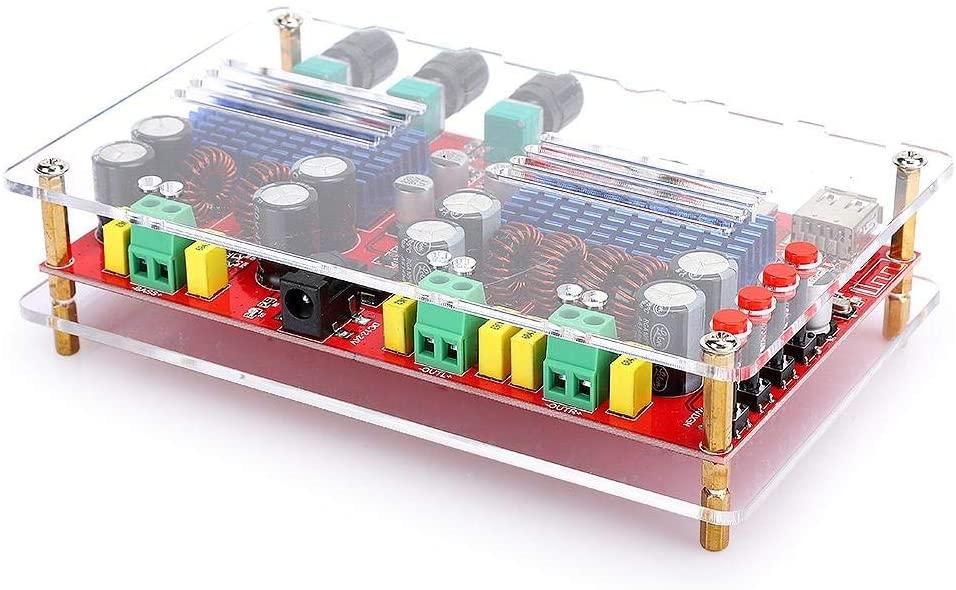 CiCiglow Digital Power Amplifier Board DC12-24V 2.1 Sound Channel 60W+60W+100W Bluetooth 2.1 Sound Channel Digital Power Amplifier Board