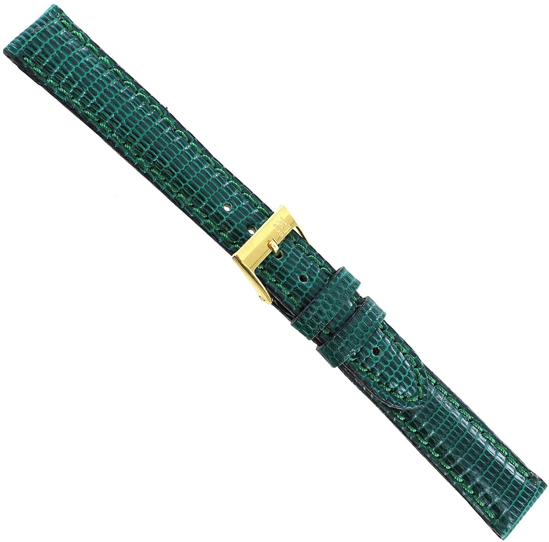 14mm Morellato Genuine Lizard Padded Stitched Green Ladies Watch Band Reg 718