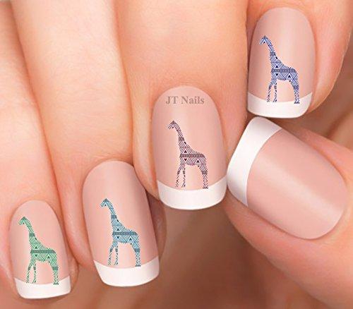 Giraffe Design #5 Nail Art Decals