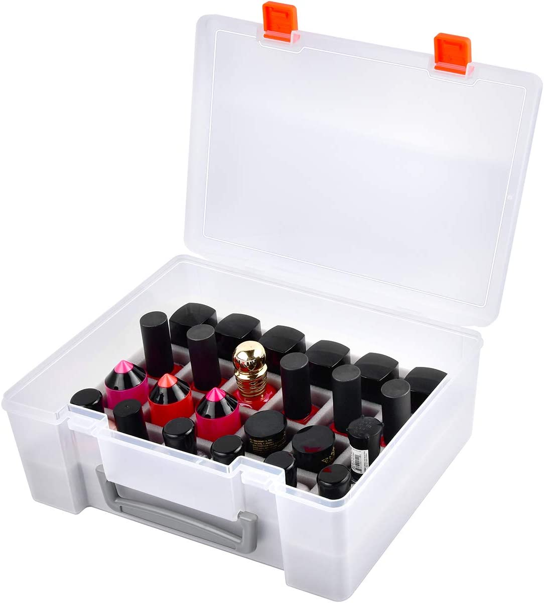 Universal Nail Polish Holder & Organizer Contains 24 Bottles for Gellen, Beetles, Sally Hansen, OPI, Essie and Other Fingernail Polish by ALCYON (ONLY A CASE).