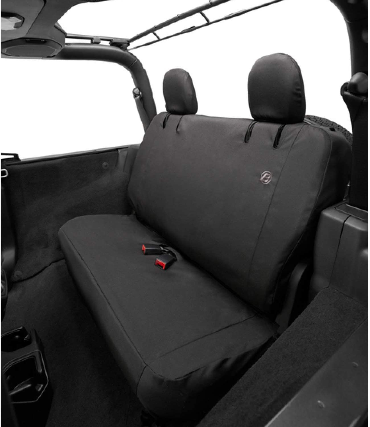 Bestop 2929435 Black Diamond Seat Covers, Rear- Jeep 2018-Current Wrangler Unlimited Without Armrest