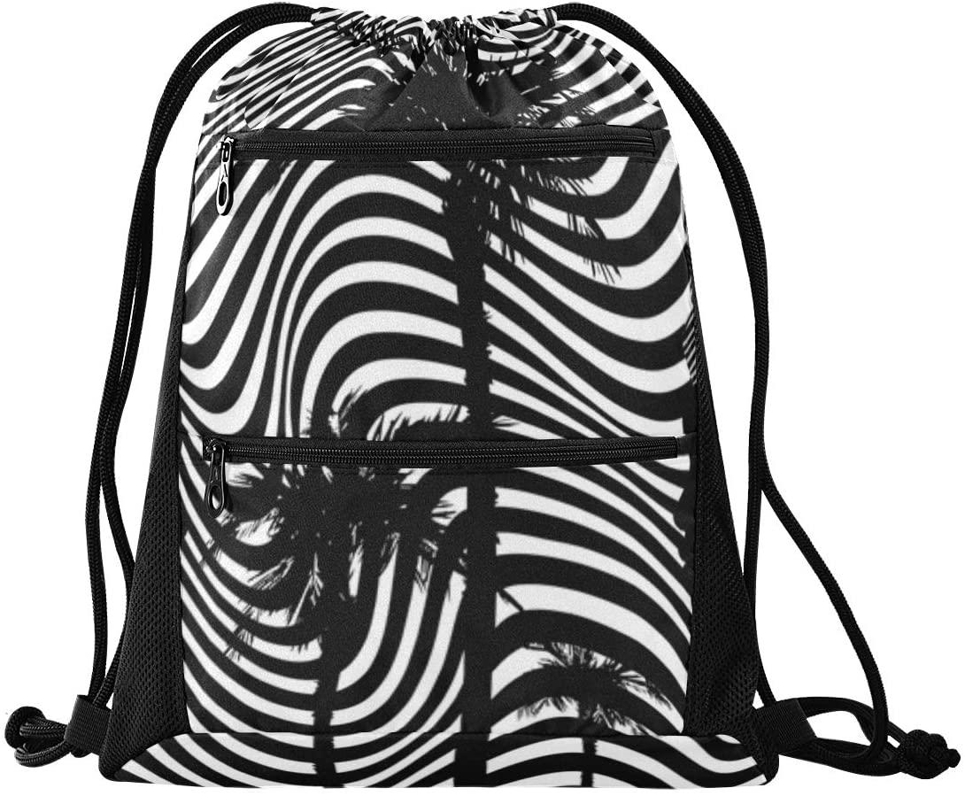 Afro Batik Optical Art Style Fabric Printing 006 Drawstring Backpack for Women,Draw String Sport Yoga Gym Bag Drawstring Bag
