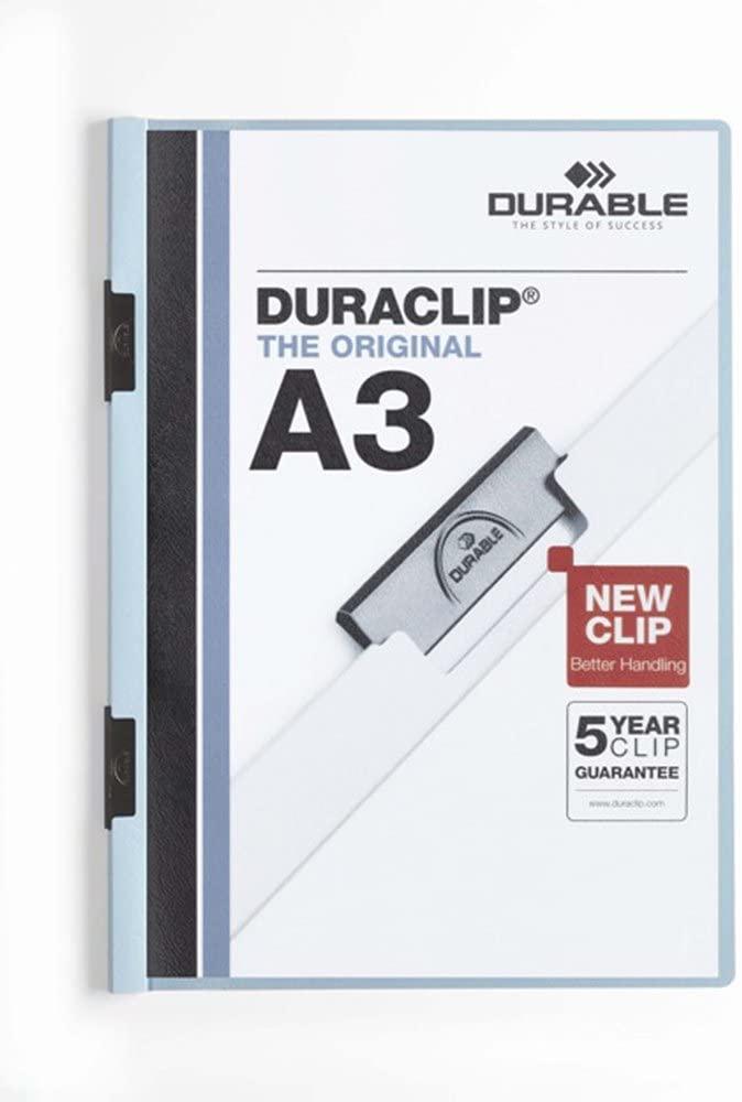 DURABLE Dossiers clip Duraclip A3 Azul PVC 221806
