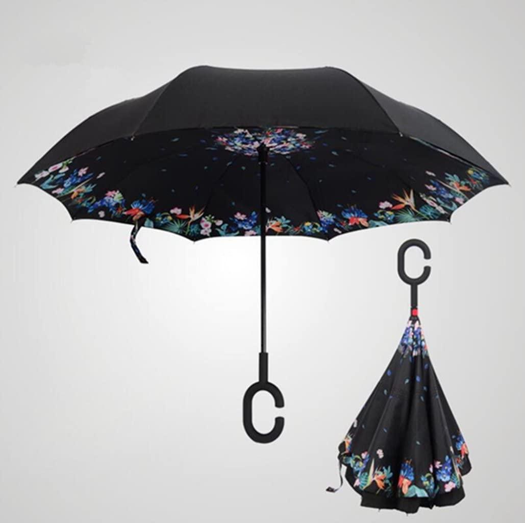 Sucastle Free, double, reverse umbrella, reverse, umbrella, straight, car, umbrella, wind, rain, umbrella, rain, Sucastle:Colour:Outside the black inside sleep:size:Solitary; 116cm: diameter; 80cm
