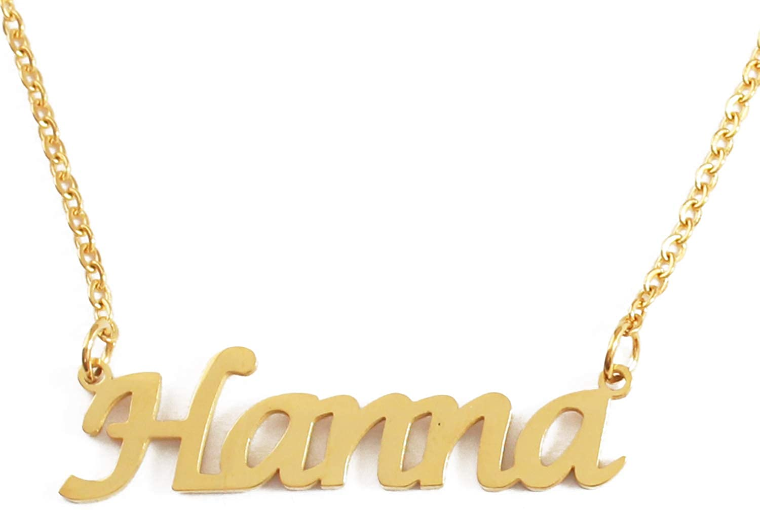 Kigu Hanna Custom Name Necklace Personalized - 18ct Gold Plated