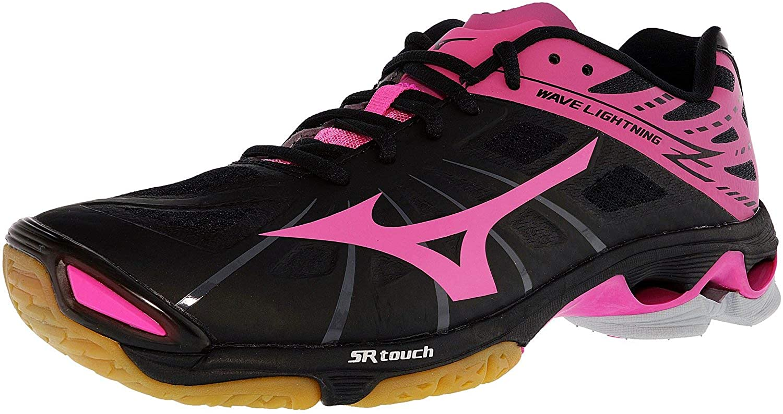 Mizuno Women's Wave Lightning Z WOMS BK-PK Volleyball Shoe