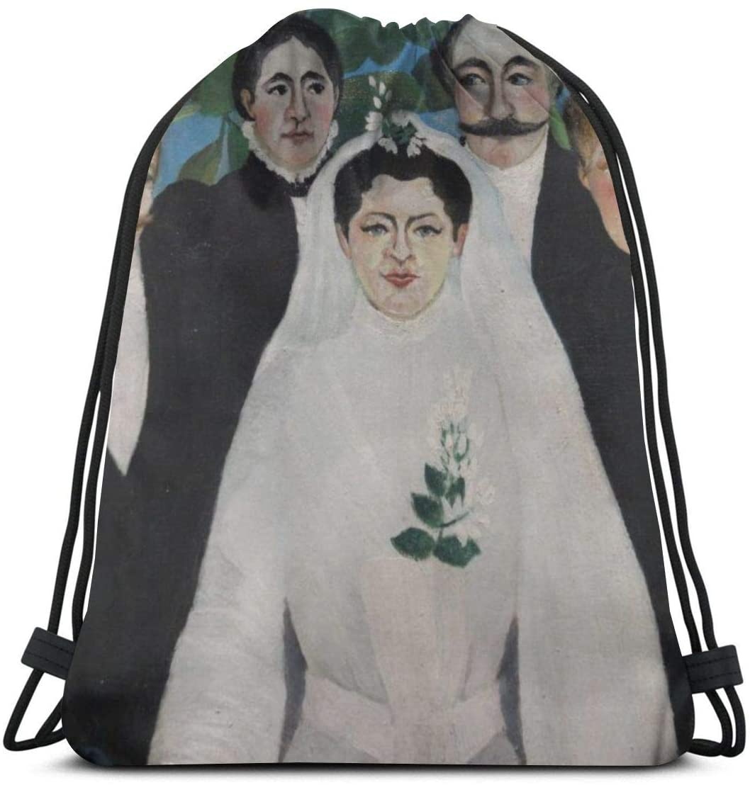 Backpack Drawstring Bags Cinch Sack String Bag Henri Rousseau Primitive Post-Impressionism World Famous Paintings Sackpack For Beach Sport Gym Travel Yoga Camping Shopping School Hiking Men Women