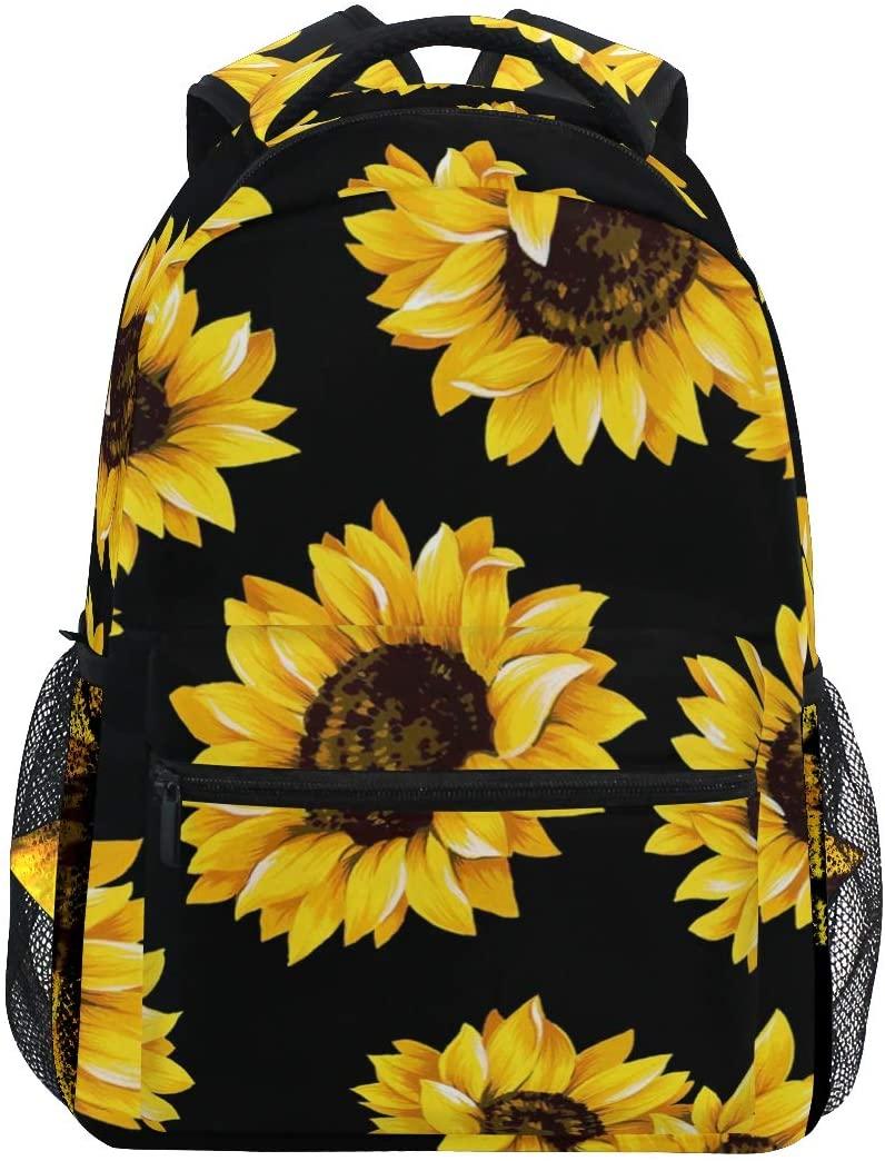 Baofu Sunflower Backpack Laptop Bookbag For for Kids Grils Middle School Student